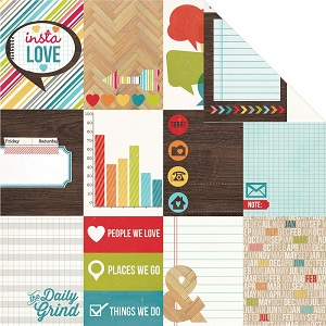 Simple Stories - Papier � motifs - Daily Grind -  3X4 Journaling Cards