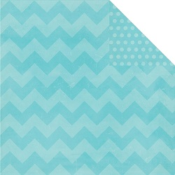 Simple Stories - Papier � motifs - Daily Grind - Teal Chunky Chevron/dots