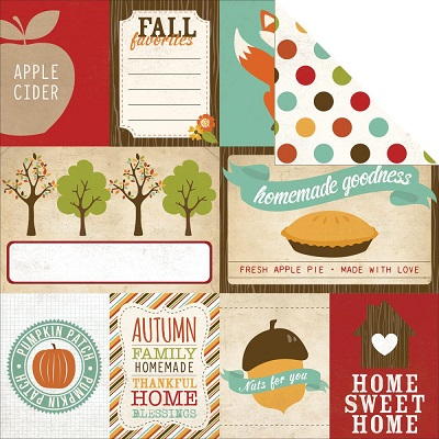 Echo Park - I love Fall - Journaling Cards