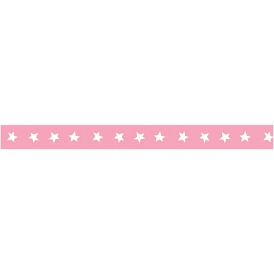 American Crafts - Ruban - Rose � �toiles