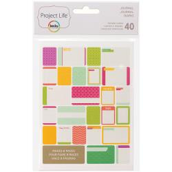 Project Life - 40 Cartes � th�me - Journal