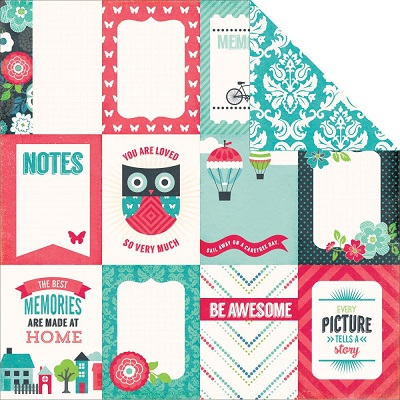 Echo Park - We Are Family - 3X4 Journaling Cards