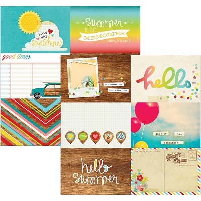 Simple Stories - Good Day Sunshine - 4X6 Journaling card Elements