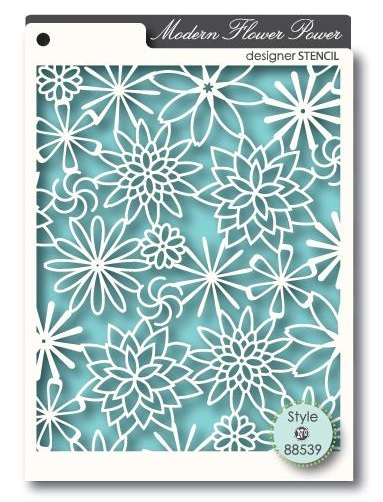 MemoryBox Stencil - Masque - Flower Power