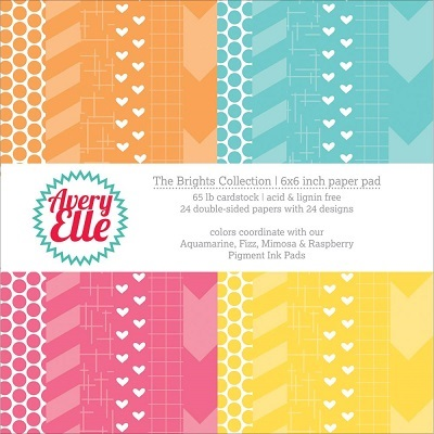 Avery Elle - Mini pack 15 X 15 - The Brights Collection