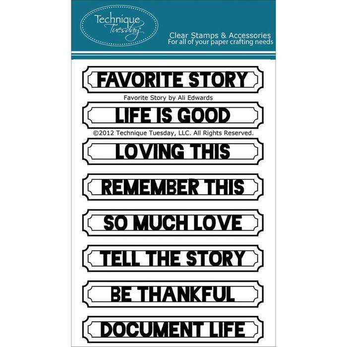 Technique Tuesday - clear stamp -  Favorite Story by Ali Edwards