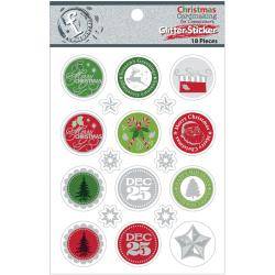 Fundamentals - Glitter Stickers - Christmas