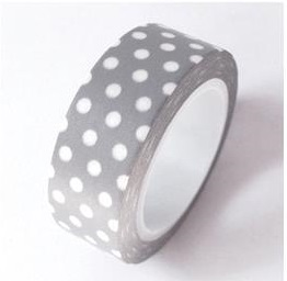 Washi Tape Love my tapes - Gris � pois