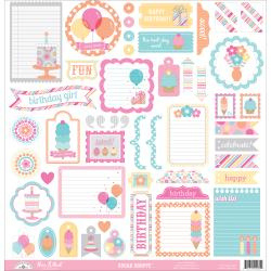Doodlebug - Stickers - Sugar Shoppe - Anniversaire petite fille