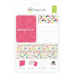 Project Life - 180 Cartes � th�me - Live Brightly