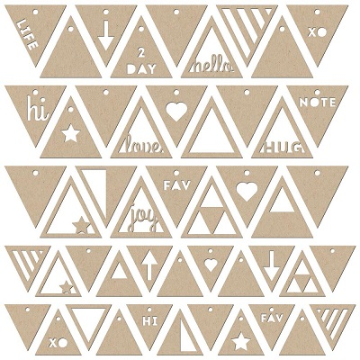 Jillibean Soup - Die-Cut - Kraft Tags - Triangles