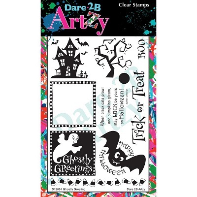 Dare 2B Artzy - Clear Stamps - Ghostly Greetings