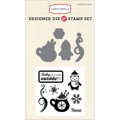 Carta Bella - Designer Dies & Stamp Set - Cold outside Die & Stamp set