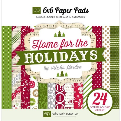 Echo Park - 6X6 Paper Pads - Home for the Holidays