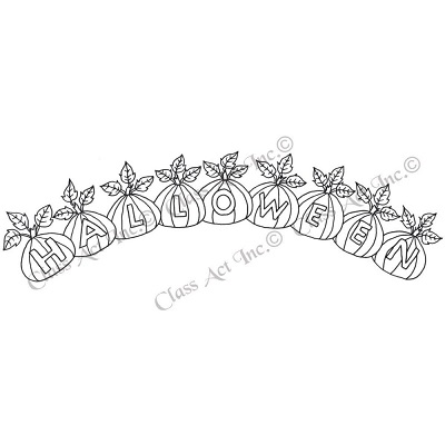 Cling Stamp - Class Act Inc. - Halloween