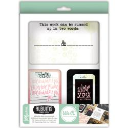We R Memory Keepers - 100 cartes d�coup�es - Love Notes