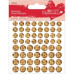 Docrafts - Papermania - Shimmer Dome - Petits domes brillants - Dor�s