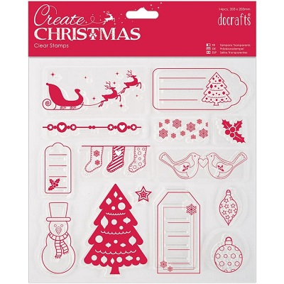 Docrafts Papermania - Clear Stamp - Create Christmas