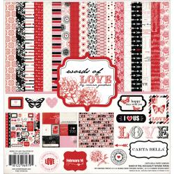 Carta Bella - Words of Love - Kit de papiers