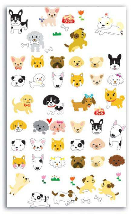 Toga - Funny Stickers - Chiens