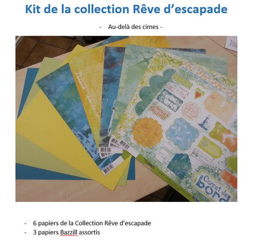 R�ve d�escapade - kit de papiers assortis
